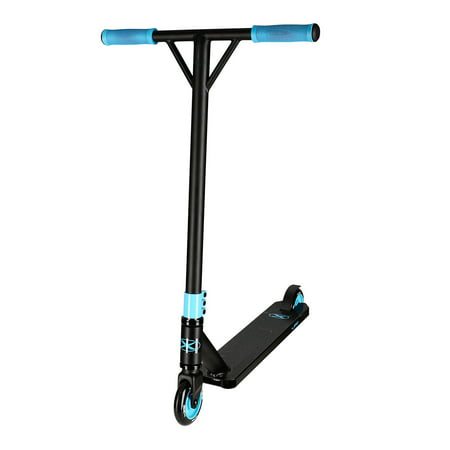 Xspec Matte Black Aluminum Outdoor Sports Pro Stunt Kick Scooter and Teal