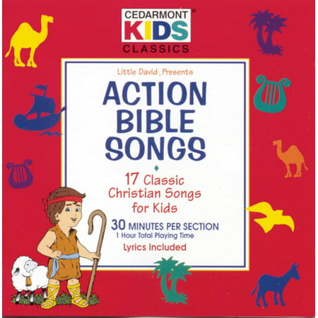 Cedarmont Kids - Action Bible Songs (CD) - French Songs For Kids Halloween