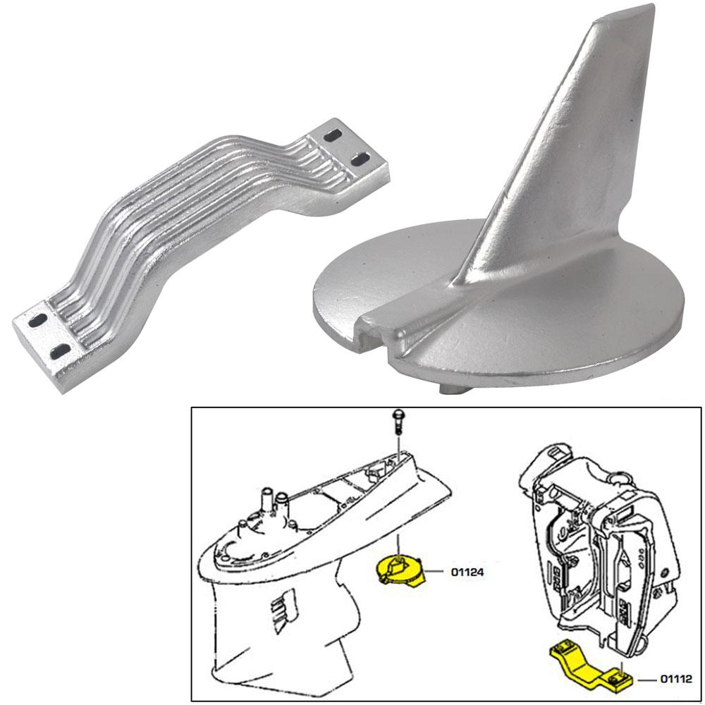 Tecnoseal Anode Kit Yamaha 200 -250 Hp Zinc Polybag