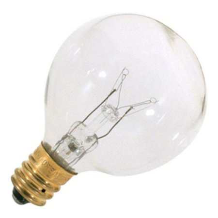 - Satco 03846 - 25G12/C/CL    S3846 G12 5 Decor Globe Light Bulb