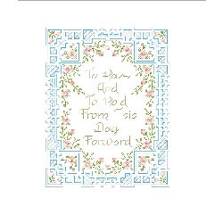 """""""To Have And To Hold Stamped Cross Stitch Kit-7""""""""X9"""""""""""""""