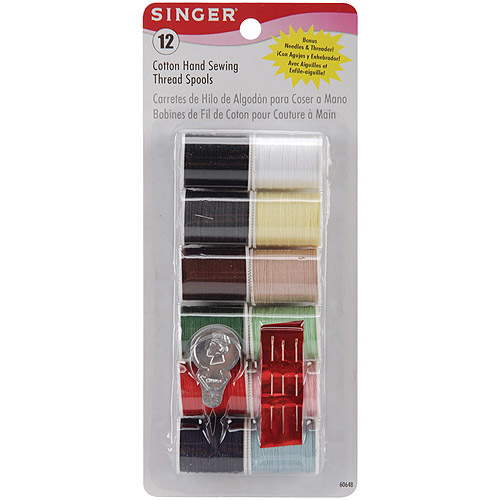 Singer Cotton Thread 25 yd Spools, Light and Dark Shades, 12pk