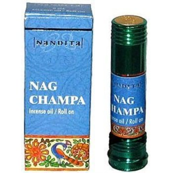 nag champa - nandita incense oil/roll on - 1/4 ounce