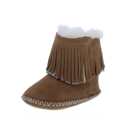 Ugg Branyon Baby Girl Leather Boots Brown 12-18 MO ()