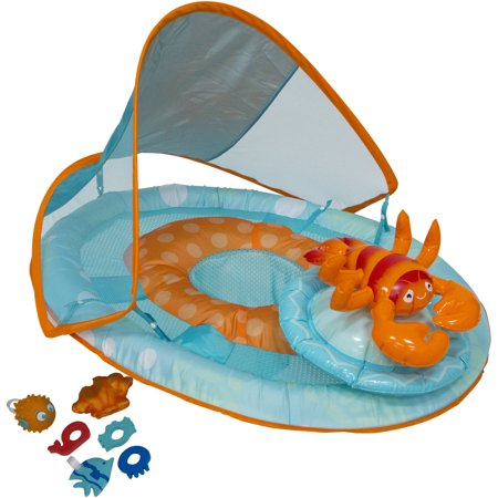 Baby Spring Float Activity Center with Canopy, - Baby Lobster