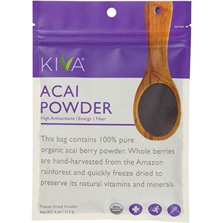 - Kiva Organic Acai Berry Powder - Non-GMO, RAW, Vegan (4.0-Ounce)