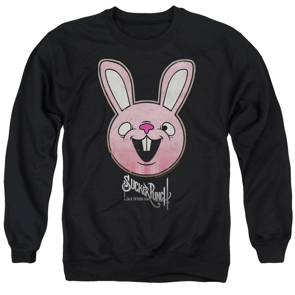 Sucker Punch Pink Bunny Mens Crewneck Sweatshirt