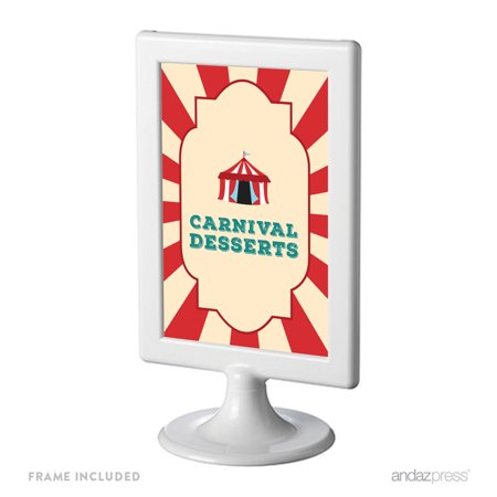 Carnival Desserts Carnival Circus Birthday Framed Party Signs