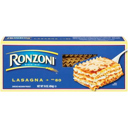 Ronzoni No. 80 Lasagna Noodles, 16-Ounce Box