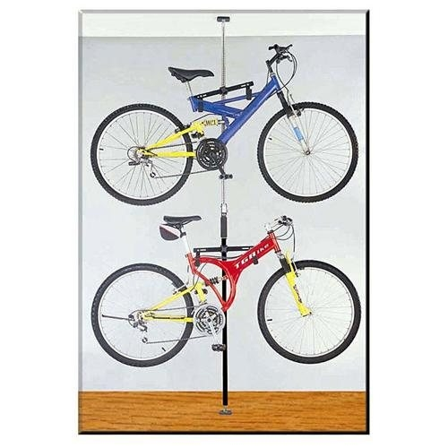 Chrome Q-rak Dual Bike rack Floor to Ceiling Storage Rack