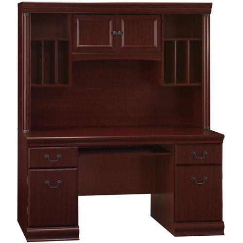 Bush Furniture Birmingham Collection Credenda and Hutch Suite