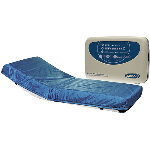 "Drive Medical Masonair Alternating Pressure and Low Air Loss Mattress System, Raised Rails, 80"" x 8"""