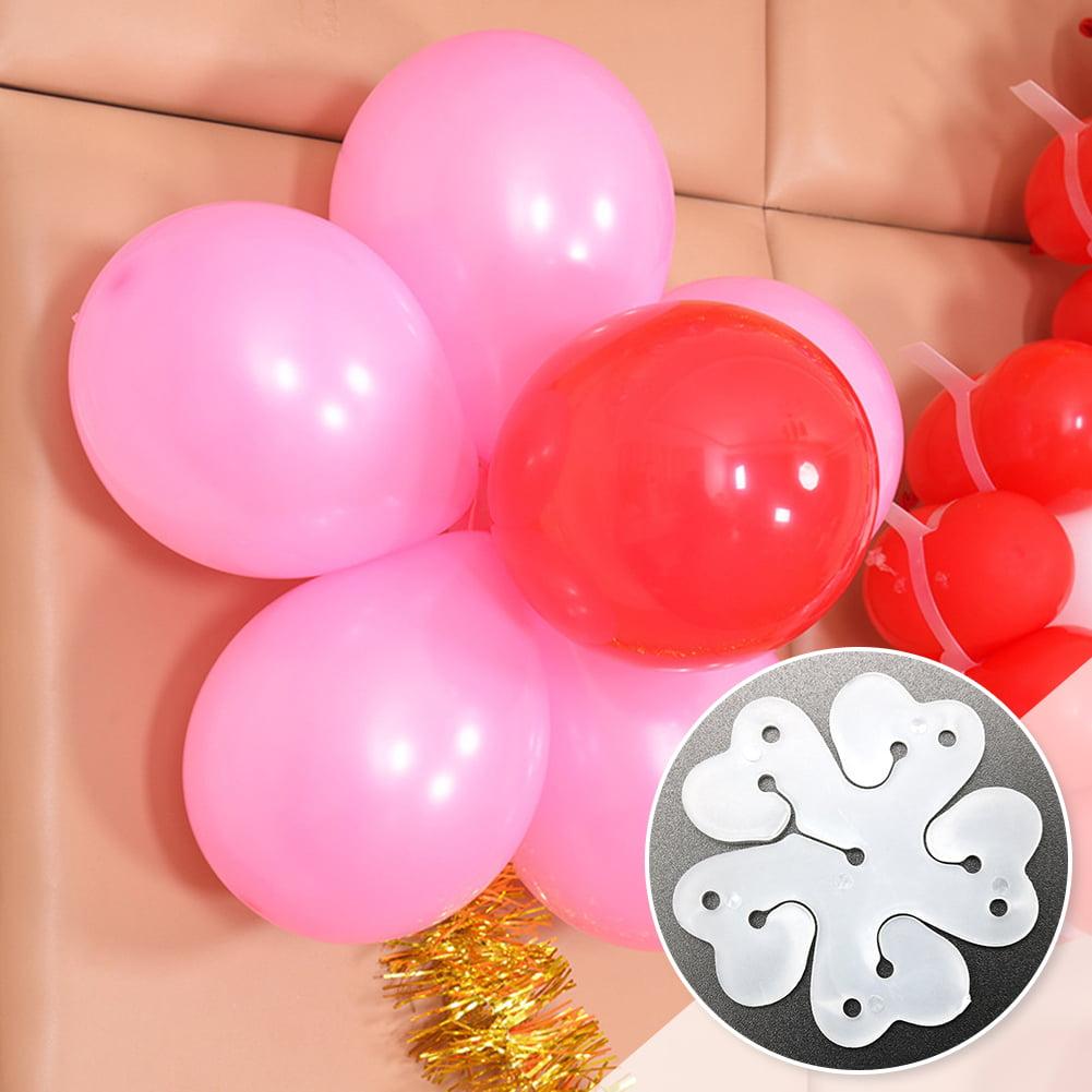 10 PCS Plum Balloon Tie Flower Balloon Clips Tools Birthday Wedding Party Decor