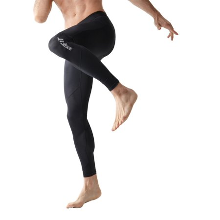 ClubFit Men's Moisture Wicking Anti Bacterial Thermal Conductivity Full Length Base Layer Activewear Compression Leggings (Z-Black - Size S) ()