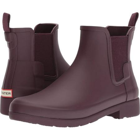 4e116ea9ef46 Hunter - Hunter Women's Original Refined Chelsea Rain Boots, Oxblood, 7  B(M) US - Walmart.com