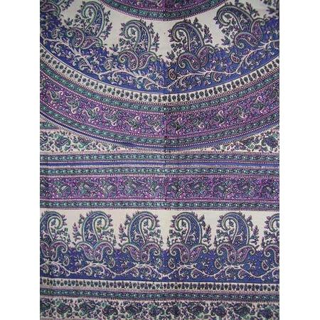 Paisley Mandala Tapestry Cotton Bedspread 90