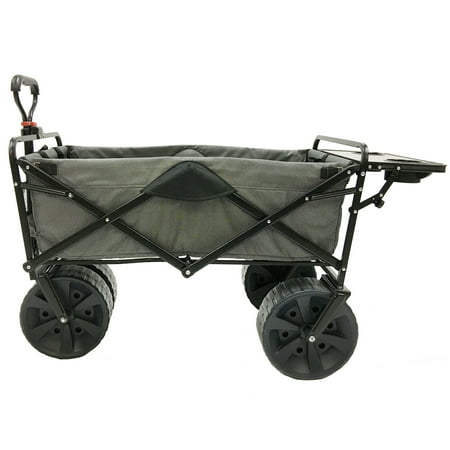 Well Wagon (Mac Sports Collapsible Heavy Duty All Terrain Utility Wagon w/ Table, Gray )