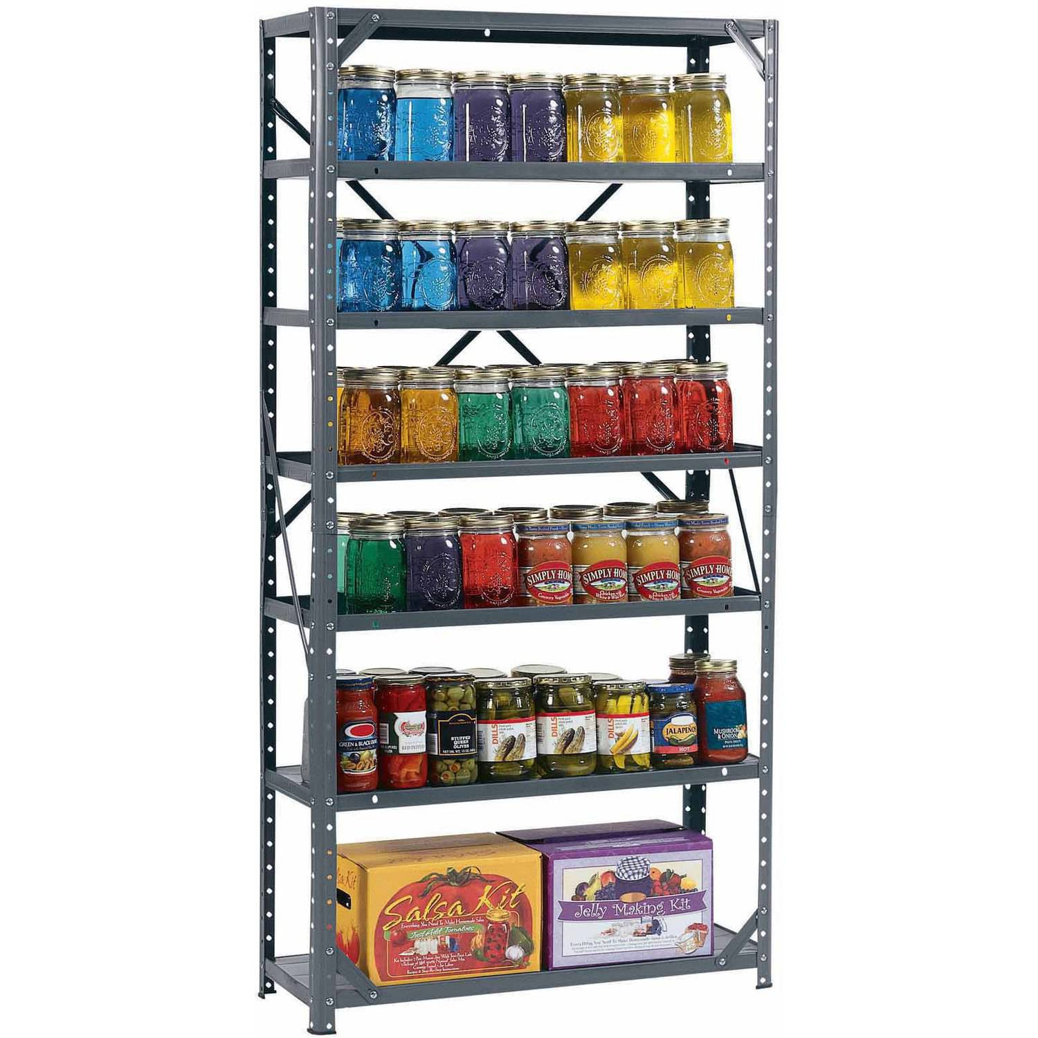 "Muscle Rack 30W x 12""D x 60""H 7-Shelf Steel Shelving, Grey"