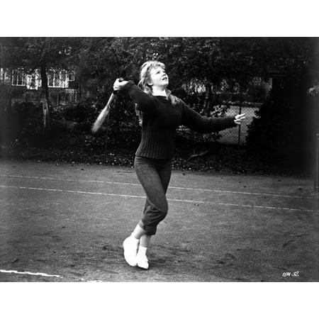 Standing Portrait - Hayley Mills standing in Classic Portrait Photo Print
