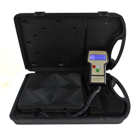 ZENY 220lbs Electronic Refrigerant Charging Digital Weight Scale with Case for HVAC