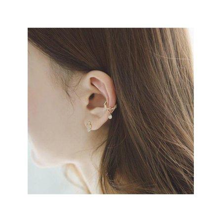 MAXSUN 1PC Women Water Drop Ear Clip Ear Cuff Non Pierced Earrings