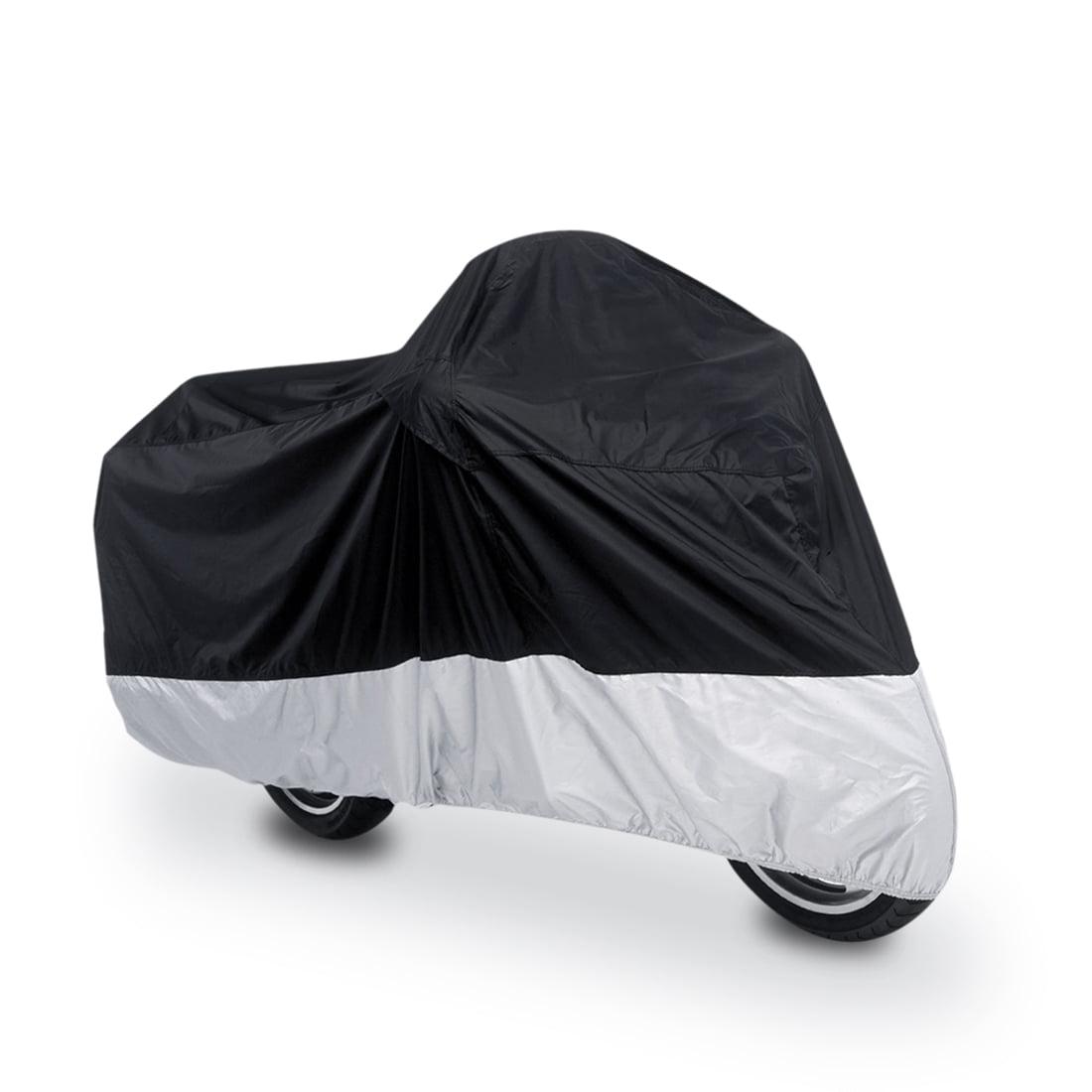 XXL 180T Black+Silver Motorcycle Cover For Kawasaki VULCAN VN 800 900 1500 1600 1700 2000