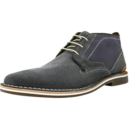 5156ebfe2ec Steve Madden Men's Hotshot Light Blue Ankle-High Canvas Oxford Shoe ...