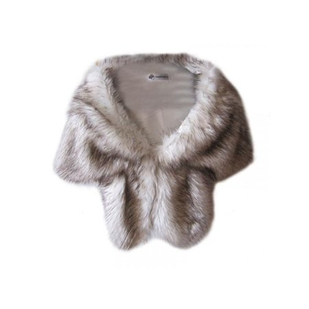 Women Winter Warm Wrap Noble Long Shawl Stole Faux Fur Wrap Shrug Scarf ()