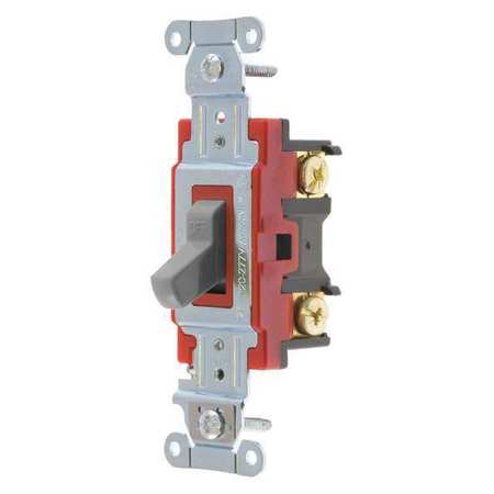 BRYANT 4901BGRY Wall Switch,Gray,1-Pole Type,1 to 2 HP