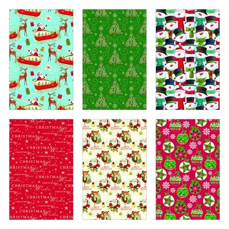 Christmas Gift Wrap Design.Pk Douglass Christmas Gift Wrap Traditional 6 Rolls