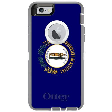 DistinctInk™ Custom Grey OtterBox Defender Series Case for Apple iPhone 6  Plus   6S Plus fcd9b4ab8
