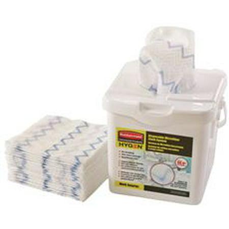 Rubbermaid Hygen Disposable Microfiber Cloth Starter Kit, 160 Cloths Per Tub