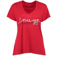 Washington Wizards Peace Love World Women's Love You Mean It Mini Mimi V-Neck T-Shirt - Red