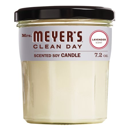 Mrs. Meyer's Clean Day Scented Soy Candle, Lavender Scent, 7.2 ounce