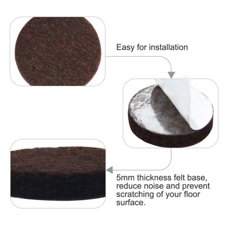 """Felt Furniture Pads Round 1 3/4"""" Self Adhesive Anti-scratch Floor Protector 30pcs - image 4 of 7"""
