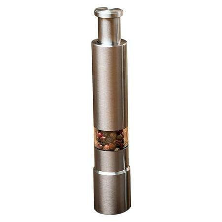 Gobestart Stainless Steel Thumb Push Salt Pepper Spice Sauce Grinder Mill Muller Stick