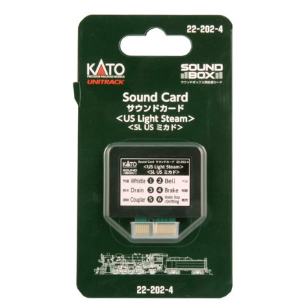 Steam Sound Decoder (Kato 22-202-4 N US Light Steam Soundcard for Sound Box)