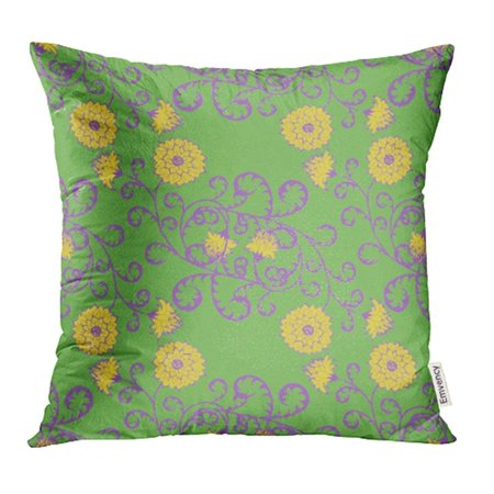 ARHOME Floral Rapport in Vintage Big Flowers Michaelmas Daisy Aster Natural Pillowcase Cushion Cases 20x20 inch