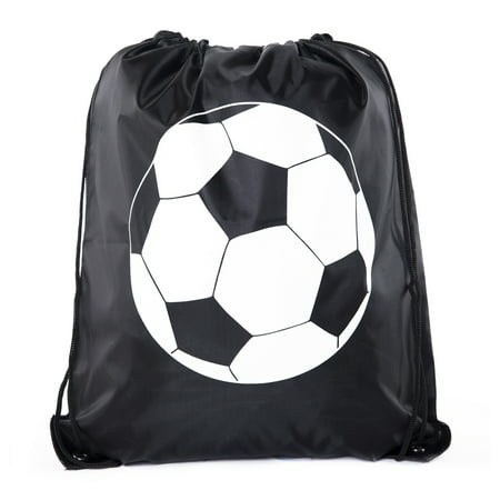 Soccer Party Favors | Soccer Drawstring Backpacks for Birthday Parties, Team events, and much more!](Soccer Themed Birthday Party Supplies)