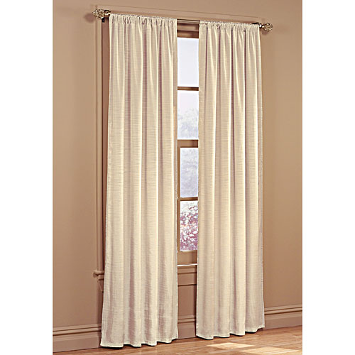 Ivory Lined Dupioni Window Curtain 40x84