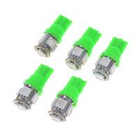 Unique Bargains 5 Pcs Green 5050 SMD 5  T10 W5W 194 168 192 Car Signal Side Light Bulbs