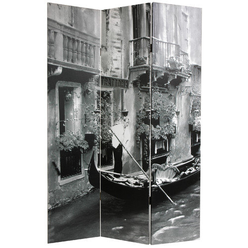 Oriental Furniture 70.88'' x 47.25'' Scenes of Venice 3 Panel Room Divider