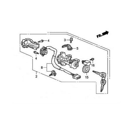 Honda 35100-S84-A33NI Steering Lock Assembly Honda Accord