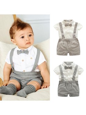 04f88cc592d12 Product Image Kacakid Baby Boy Child Toddler Gentleman Suit +Bow Tie+Suspender  Trousers Pants Suit Suspenders