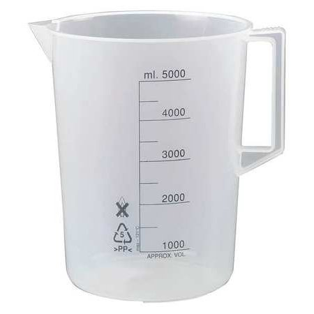 LAB SAFETY SUPPLY 23X904 Beaker with Handle,5000mL,PK2 ()