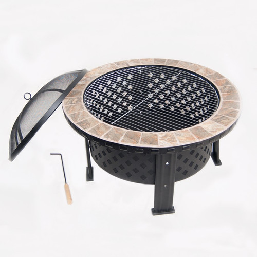 Tile Top Fire Pit and Grille