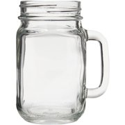 Libbey Glass Mugs and Tankards Tall Drink Jars, 6.5 oz, (Pack of 12)