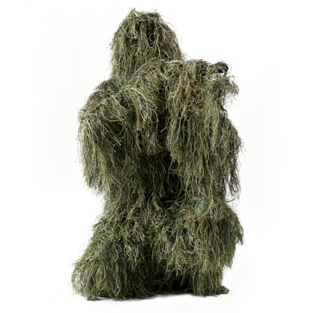 New Ghillie Suit XL/XXL Camo Woodland Camouflage Forest Hunting 4-Piece +