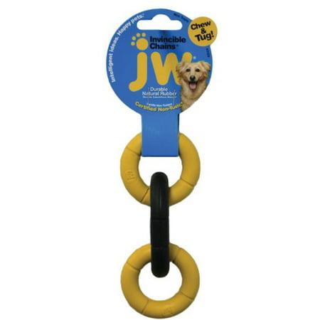 PetMate JW Invincible Chains Tough Natural Rubber Durable Flexible Dog Toy Mini Jw Pet Company Mini Invincible Chains Dog Toy Colors Vary (Pack of 1)
