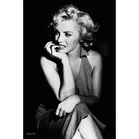Marilyn Monroe Sitting Dress Sexy Hollywood Beauty Movie Icon Poster   24X36 Inch
